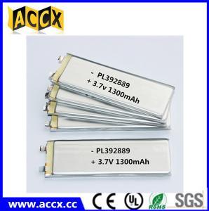 China PL392889 3.7V 1300mAh lithium polymer battery on sale
