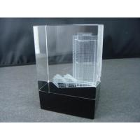 China Fashion 3D laser cube crystal dragonfly on sale