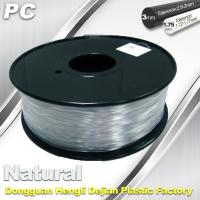 Good Transmission of Light PC 3D Printer Transparent Filament 1.75mm / 3.0mm Manufactures