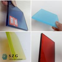 China glass factory supply high quality color eva film laminated glass suppliers Manufactures
