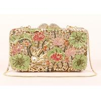 Quality Rhinestone Novelty New Look Clutch Bags , Top Grade Crystal Beaded Clutch Bag for sale