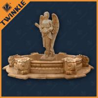 Natural Yellow Garden Water Fountains With Mermaid / Fairy Statue Manufactures
