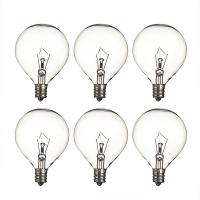 Wax Warmer Bulbs Dimmable Incandescent Light Bulbs , G50 Round 25 Watt Incandescent Bulb Manufactures