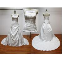 Spaghetti Straps Neckline A-line Floor Length Real Samples Wedding Dress With Chapel Train Manufactures