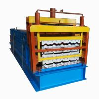 China Corrugated Aluminum Roof Panel Wall Cladding Roll Forming Machine on sale