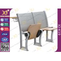 University / College Classroom Furniture Plywood Seating Steel Iron Leg Manufactures