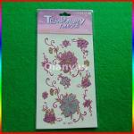 kids temporary tattoo sticker/ glitter tattoo sticker/ glow tattoos Manufactures