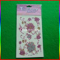 China kids temporary tattoo sticker/ glitter tattoo sticker/ glow tattoos on sale