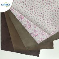 Embossed  PU Leather Fabric Advanced Technology Thick  Polyestermaterial Manufactures