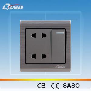 LK6048 4 pin 86 type wall electrical socket