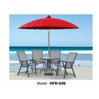 Garden teslin mesh fabric chair and glass top dining table of outdoor furniture Manufactures