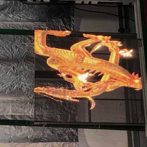 China P3.91-7.8 Transparent Led Showcase Slim Light Flexible Installation Cabinet 500*1000mm on sale