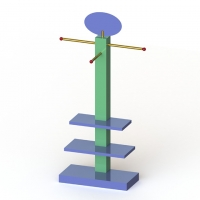 MDF Frame Branded Display Stands With Tubular Arms Manufactures