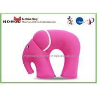 China Funny Pink Baby Neck Support Pillow / Elephant Shaped Car Pillows For Kids on sale