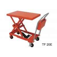 Fireproof Electric Hydraulic Lift Table , 200kg Industrial Lift Tables For Logistics Manufactures
