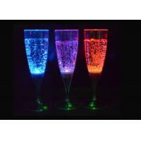 Quality Blue / Red Light Up Plastic Cups , Beverage / Wine Glow Party Cups for sale
