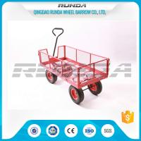 Transport Tool Garden Mesh Cart , Heavy Duty Garden Wagon Steel Tubular Handle Manufactures