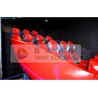 Vibration Effect 5D Simulator With Red Color Movable Seat Manufactures