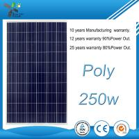 China Durable Polycrystalline Solar Panel , 250W 30V Polycrystalline Cells For Power Station on sale