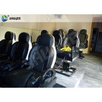 3 DOF Pneumatic System 5D Movie Theater Luxury Black Chair Yellow 3D Glasses Manufactures