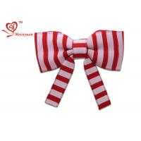 China Two Colors Stripe long festive ribbon tying christmas bows , gift wrapping ribbon bows fashion design wholesale