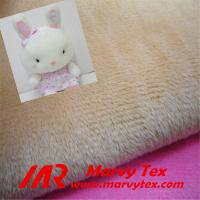1-5mm pile micro velboa fabric for soft toy Manufactures