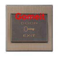 Stainless Steel Push To Exit Button 500000 Cycles Tests , Magnetic Door Lock Push Button Manufactures