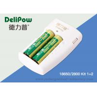China Delipow Portable 18650 Rechargeable Lithium Battery With Charger 2800mAh on sale
