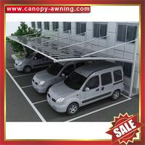 outdoor alu polycarbonate aluminium aluminium parking car shelter canopy awning cover shield carport kits manufacturers Manufactures