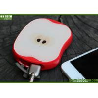 USB Quick Charge 8000mAh Mobile Phone Power Bank Apple Shaped 5V / 2A Input Manufactures