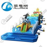 Amusement Park Giant Inflatable Games Inflatable Obstacle Course 3 Years Warranty Manufactures