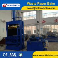 China Good quality Vertical Cardboard Waste Paper Baler Wanshida Factory on sale