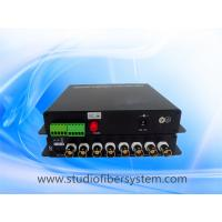 compact 8CH video audio fiber transmitter and receiver for remote CCTV surveillance system Manufactures