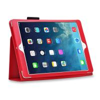 Lady Luxury Lichi Leather iPad Cases with Stand Smart Folio , Red Color Manufactures