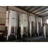 China Single Wall 3mm Fruit Wine Fermentation Tank , Wine Fermenting Equipment on sale