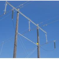Composite Housed Transmission Line Surge Arrester High Voltage , Silicon Rubber Material Manufactures