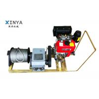 China 8 Ton Single Drum Gasoline Engine Powered Winch Cable Winch Puller on sale