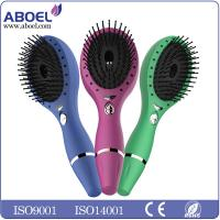 Rechargeable Vibration Electric Hair Brush With USB Cable Charging Manufactures