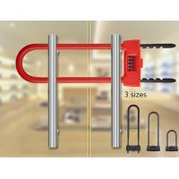 Anti Theft Glass Door Lock 4 - Digit Combination Electric U Type For Shop Manufactures