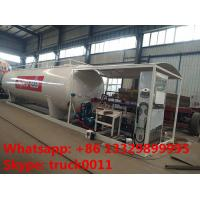 China Bottom price 50m3 skid lpg gas refilling station for cars and taxi, factory sale mobile skid lpg tank with lpg dispenser on sale