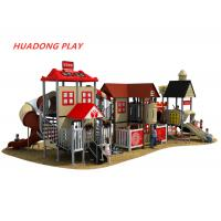 China Durable Plastic Children'S Outdoor Playground Slides Equipment For Each Community on sale