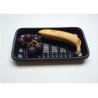 Black Small PP Food Tray , Take Away Plastic Containers With Lids For Banner Manufactures