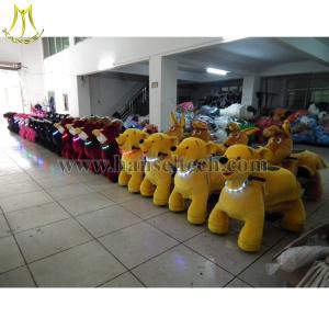 China Hansel 4 Wheels Bicycle Toy Ride Walking Robot Ride Animal Plush Zippy Toy Plush Electrical Ride on sale