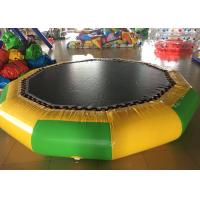Big Floating Inflatable Water Trampoline , Multi Color Outdoor Inflatable Water Park Manufactures