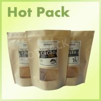 China Zipper Rice Paper Kraft Stand Up Pouches High Temperature Resistant Laminated on sale