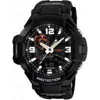 Black Double Time Zone Digit-analog Watches Calendar and Stopwatch Functions Manufactures