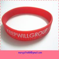 China manufacture  customized silicon wristband in high quality and the cheapest price on sale