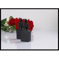 Fashion Matte Black Essential Oil Glass Dropper Bottle 15ml For Perfume Packing Manufactures