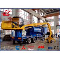 China Mobile Hydraulic Metal Baler Logger With Grab And Trailer Diesel Engine Power 3m Press room Length on sale