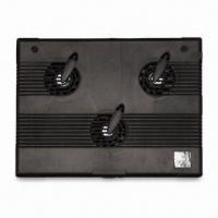 Slim Laptop Cooler with 3 Fans, 4 Ports, USB2.0 Hub and Smart Design, Black, Silver Colors Available Manufactures